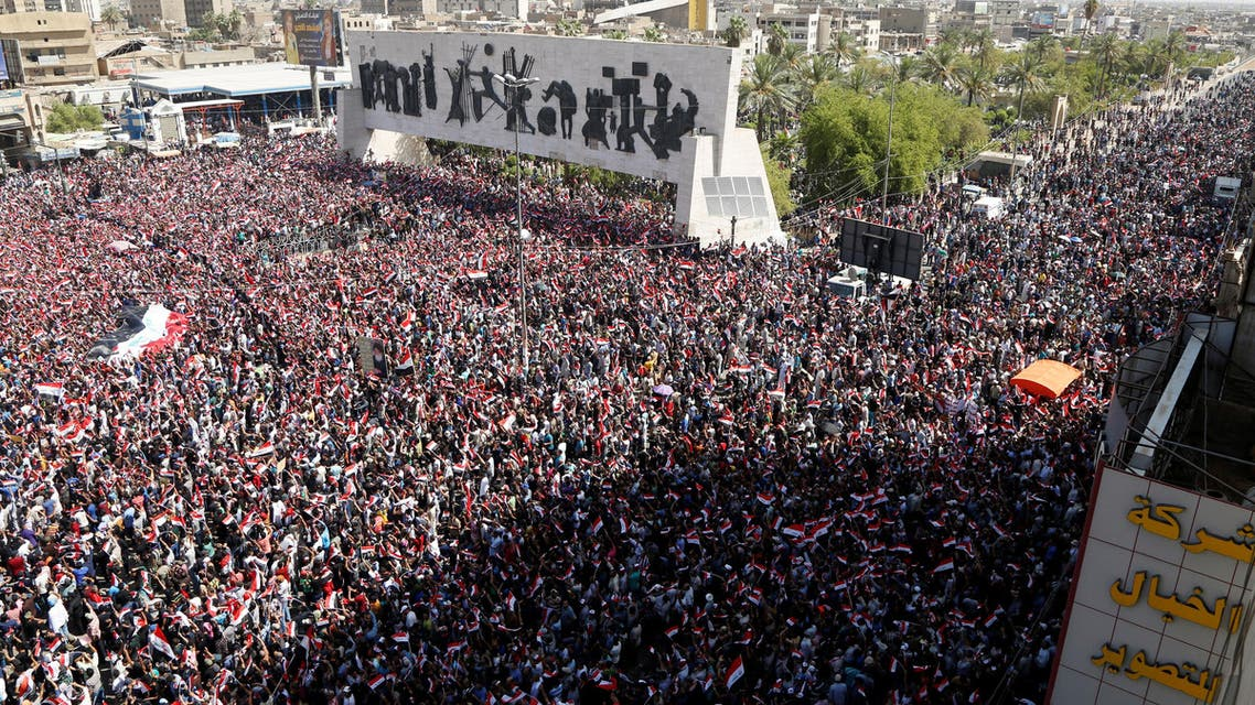 Sadr's followers have returned with familiar demands to fight corruption and overhaul a governing system. (Reuters)