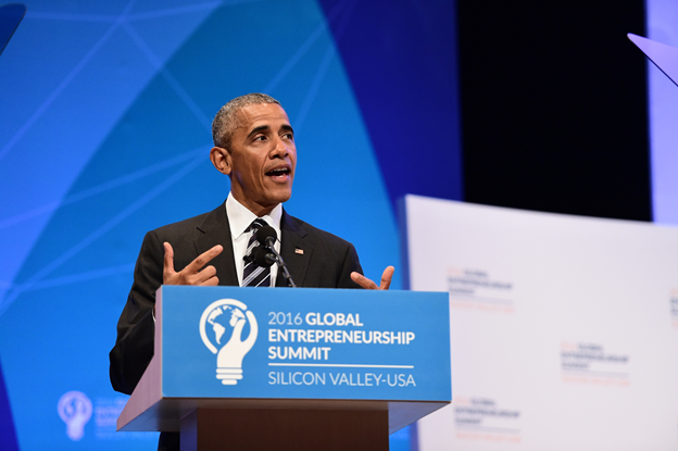 President Obama addresses audience at GES 2016. (Courtesy: Global Entrepreneurship Summit)