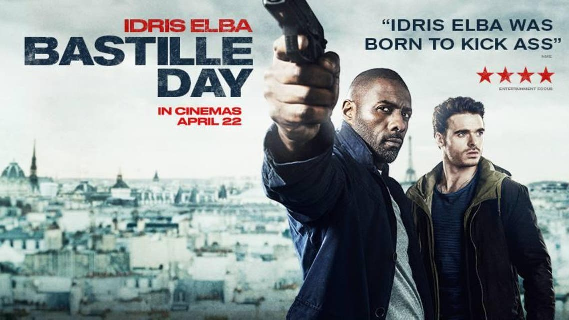 Bastille Day, starring Idris Elba, centers around a young con-artist and former CIA agent embarking on an anti-terrorist mission in France. (Focus Features)