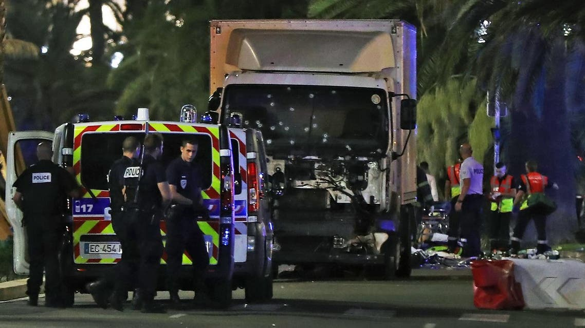 Newspaper Nice-Matin quoted unidentified sources as saying the driver of the truck (in the picture) was a 31-year-old local of Tunisian origin. (AFP)