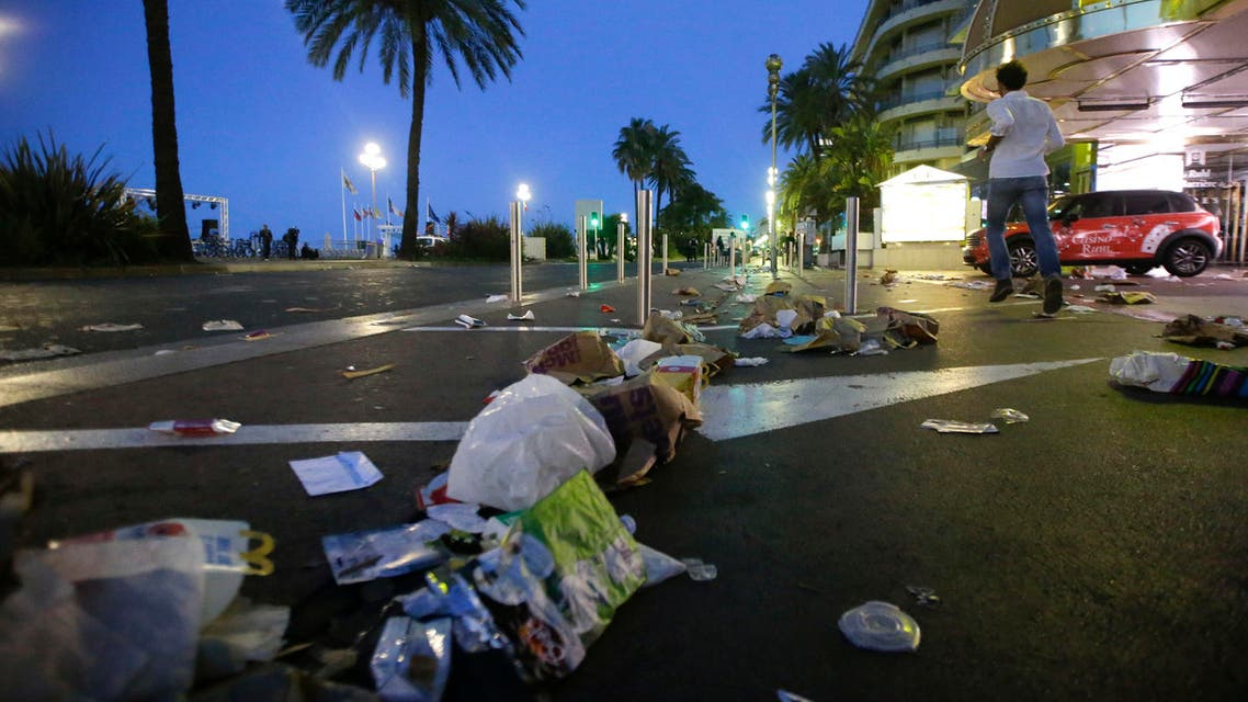A gunman smashed a truck into a crowd of revelers celebrating Bastille Day, killing at least 84 people in the French Riviera city of Nice late on Thursday. (AP)