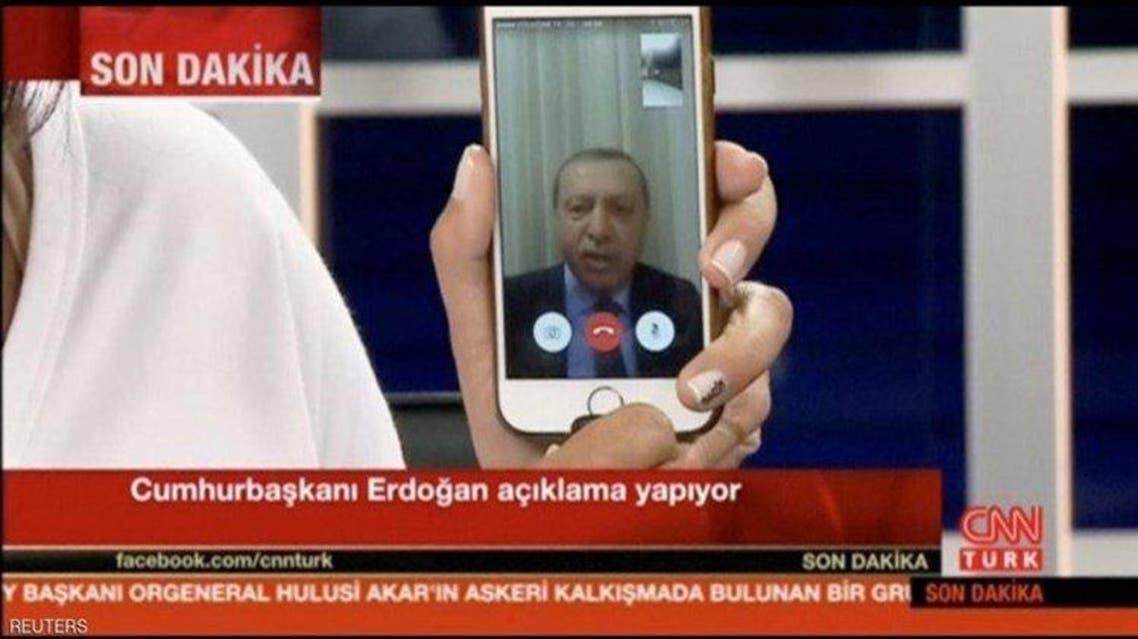 أردوغان عبر فايس تايم