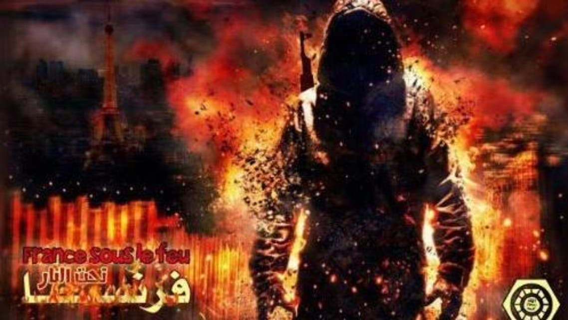 """Pro-ISIS groups immediately celebrated the Bastille Day attacks in Nice last night. An image showing a burning Eiffel Tower carried the caption """"France under fire"""""""