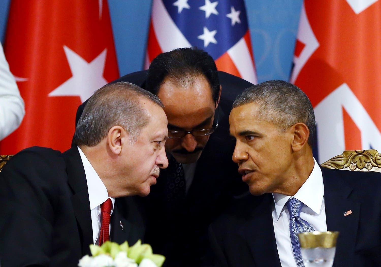 Turkish President Recep Tayyip Erdogan, left, talks with U.S. President Barack Obama back in November 2015. (File photo: AP)