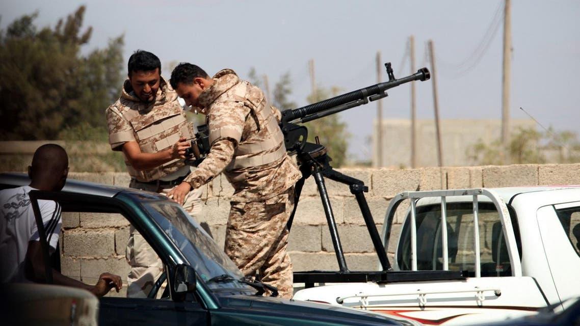Libyan army soldiers AP