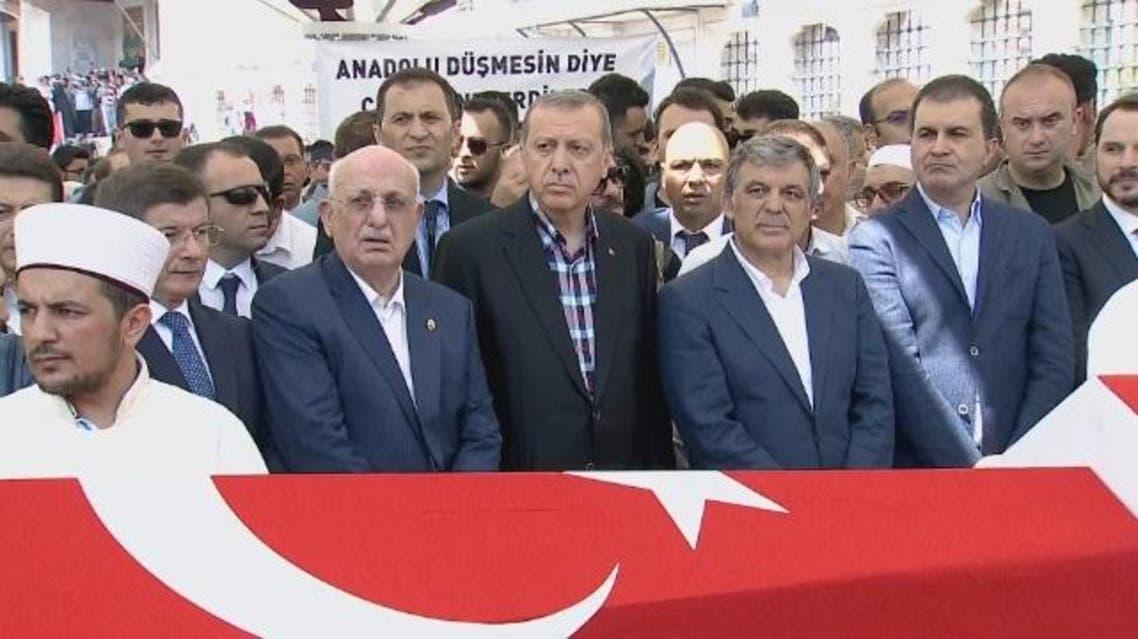أردوغان يشيع