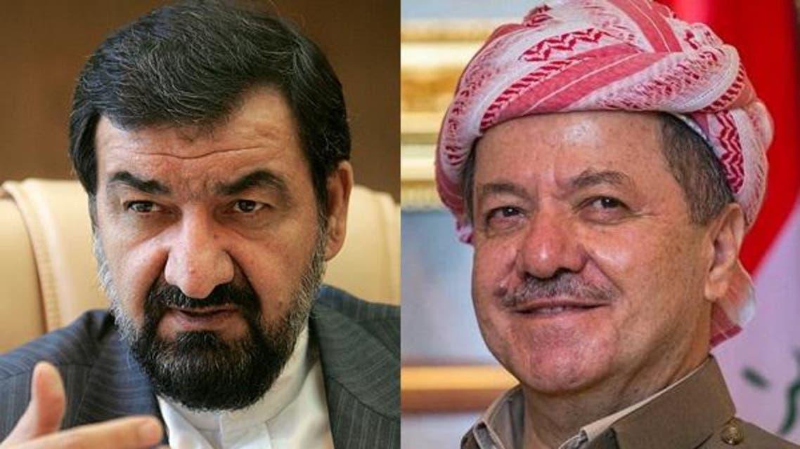 مسعود برزاني و محسن رضائي