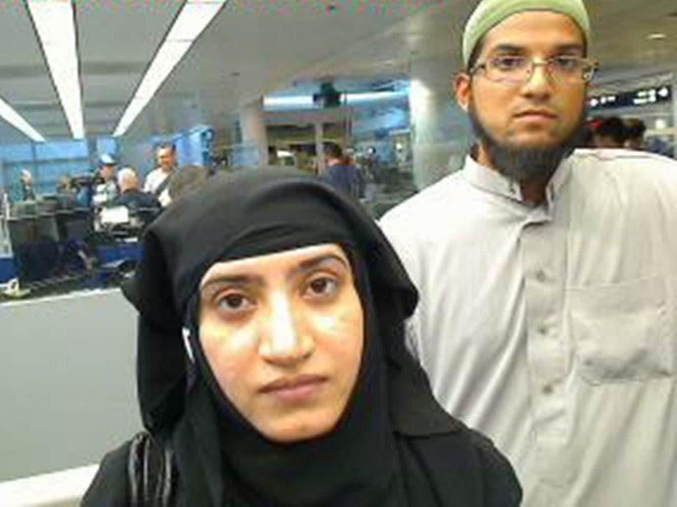 San Bernardino shooters Tashfeen Malik and Syed Farook. (Reuters)