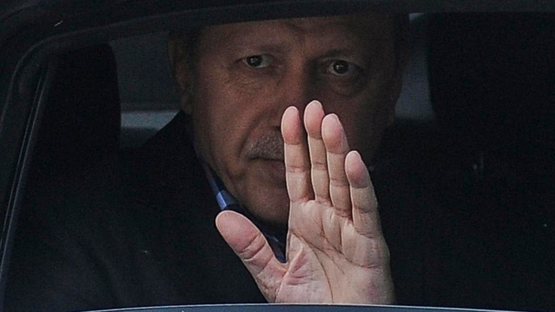 Turkish President Recep Tayyip Erdogan waves from his car after leaving his residence in Istanbul to attend a funeral service for the victims of a thwarted coup at Fatih mosque in Istanbul, Turkey, July 17, 2016. reuters