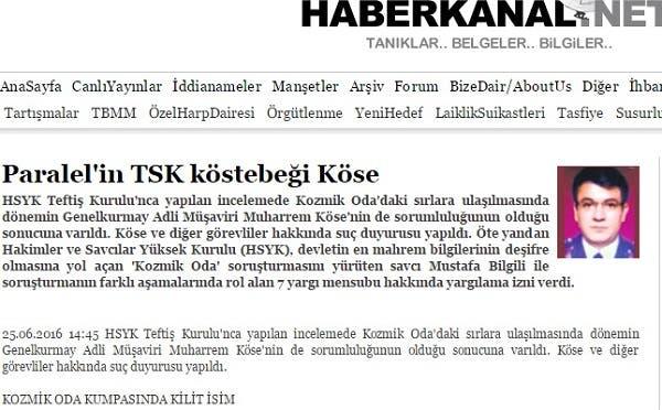 الموقع الذي نشر صورة للعقيد  محرم كوسا قبل الانقلاب بثلاثة أسابيع
