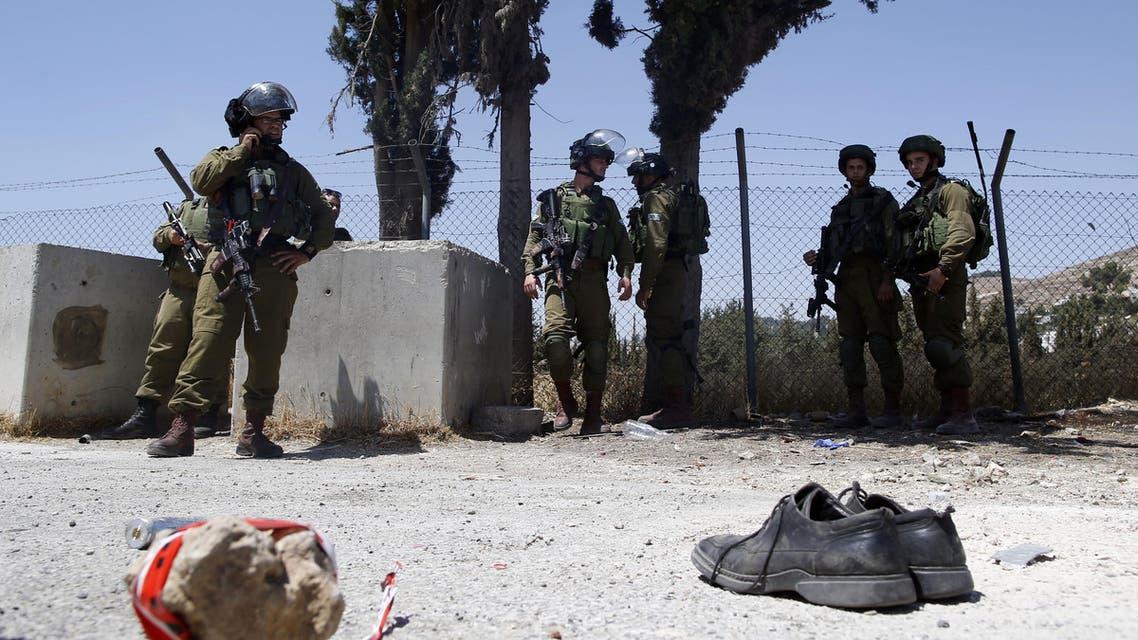 طعن إسرائيلي بالخليل 18-7-2016 فرانس برس