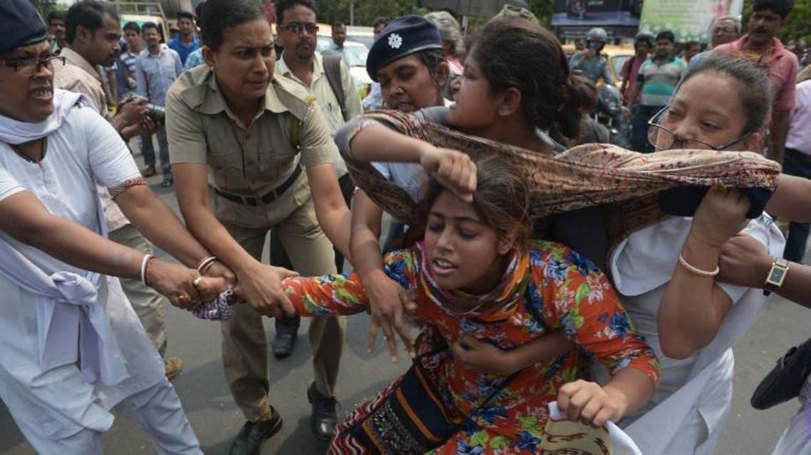 India rape protest AFP