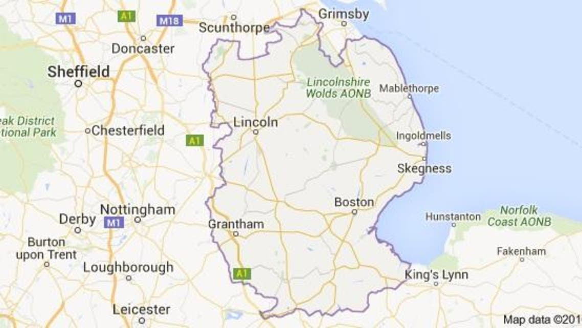 Three people include suspected gunman shot dead in incident in central British region of Lincolnshire. (Google Maps)