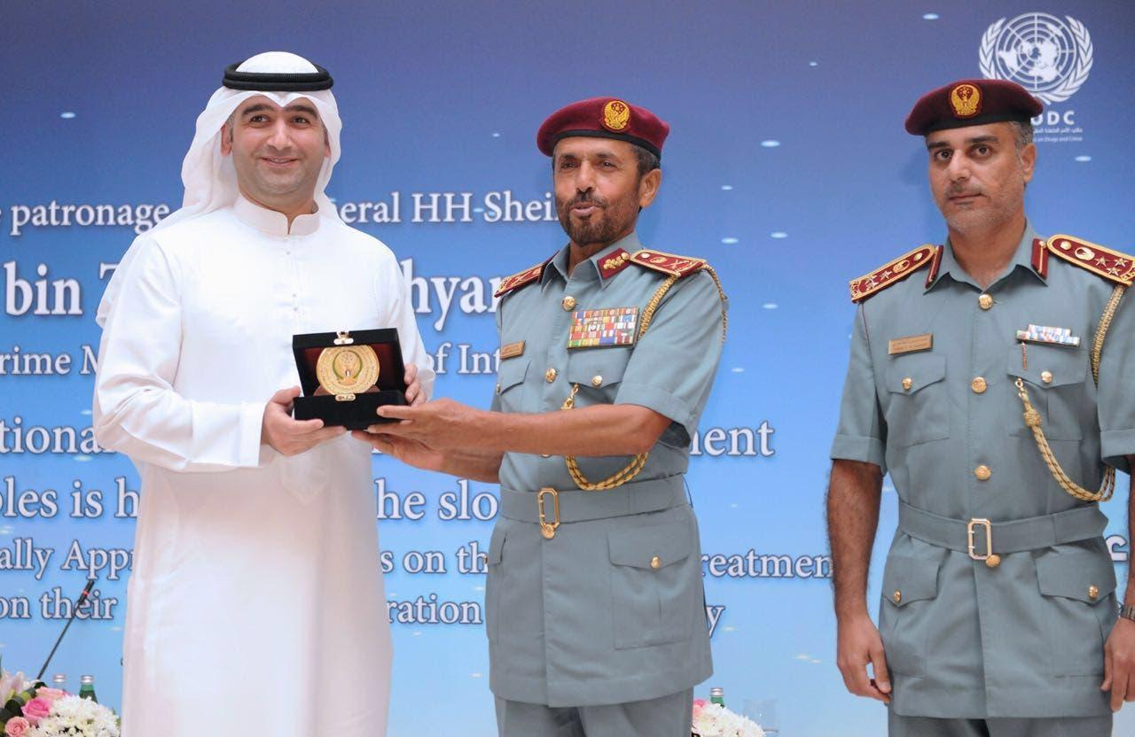 من تكريم وزارة الداخلية الإماراتية