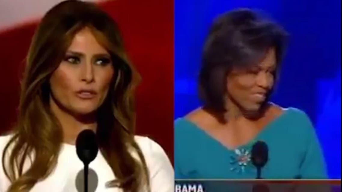 """Melania's highly-anticipated speech at the Republican National Convention on Monday night allegedly included a """"nearly copied"""" paragraph from Michelle's speech. (Twitter)"""
