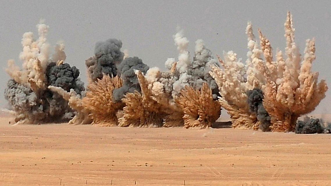 Smoke is seen after United Arab Emirates F-16 fighter jets fired missiles during joint military manoeuvres with the French army in the desert of Abu Dhabi May 2, 2012. (File photo: Reuters)