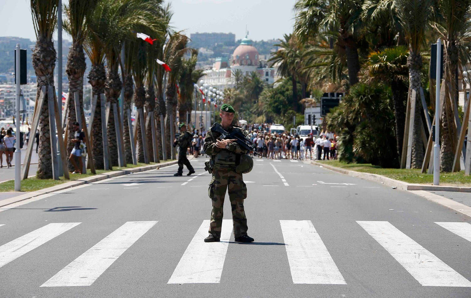 Soldiers from the French Foreign Legion patrol on the Promenade des Anglais on the third day of national mourning to pay tribute to victims of the truck attack on Bastille Day that killed scores and injured as many in Nice. (File photo: Reuters)
