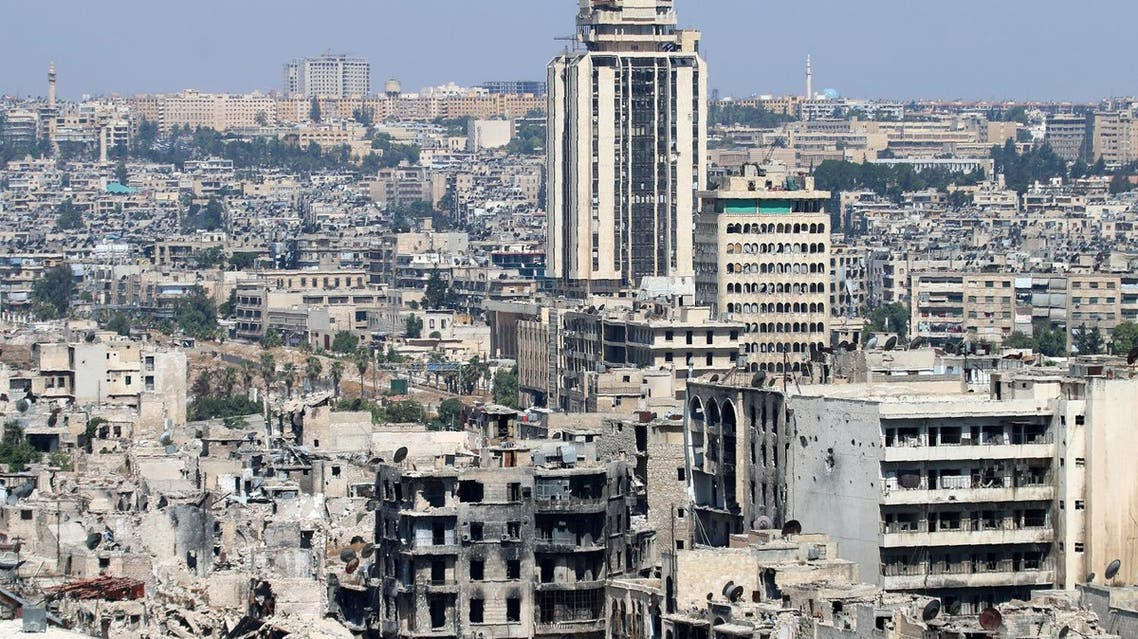 A picture taken on July 3, 2016 from the UNESCO-listed citadel in the government-controlled side shows damaged buildings in the divided northern Syrian city of Aleppo (File Photo: AFP)