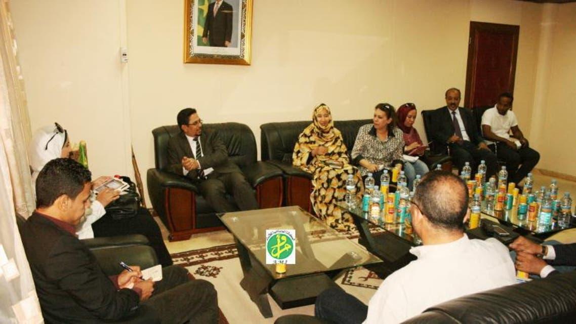 حفل استقبال البعثة الإعلامية في العاصمة الموريتانية نواكشوط