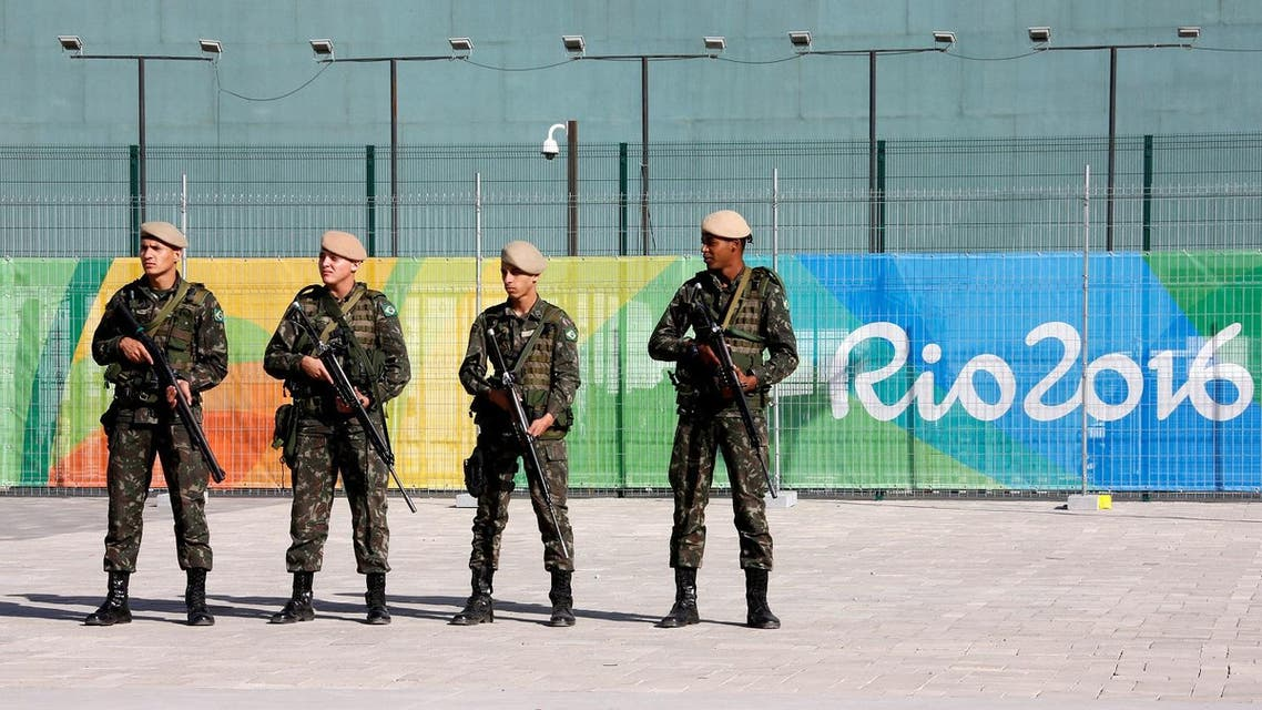 Brazilian Army Forces soldiers patrol outside the 2016 Rio Olympics Park in Rio de Janeiro. (Reuters)