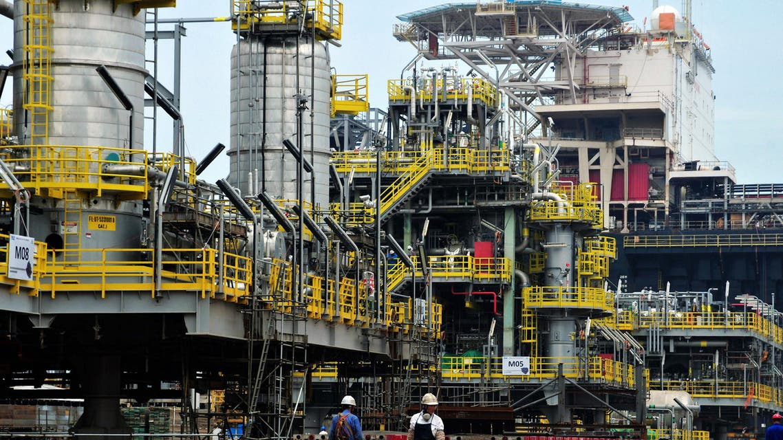 A file photo of an oil engineering platform. (AFP)