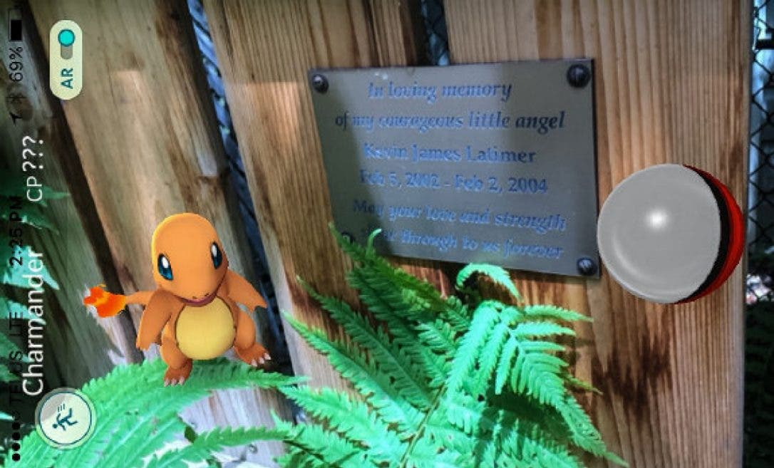 A Charmander was found at the memorial site of Kevin James Latimer. (Photo courtesy: Hamilton Spectator)