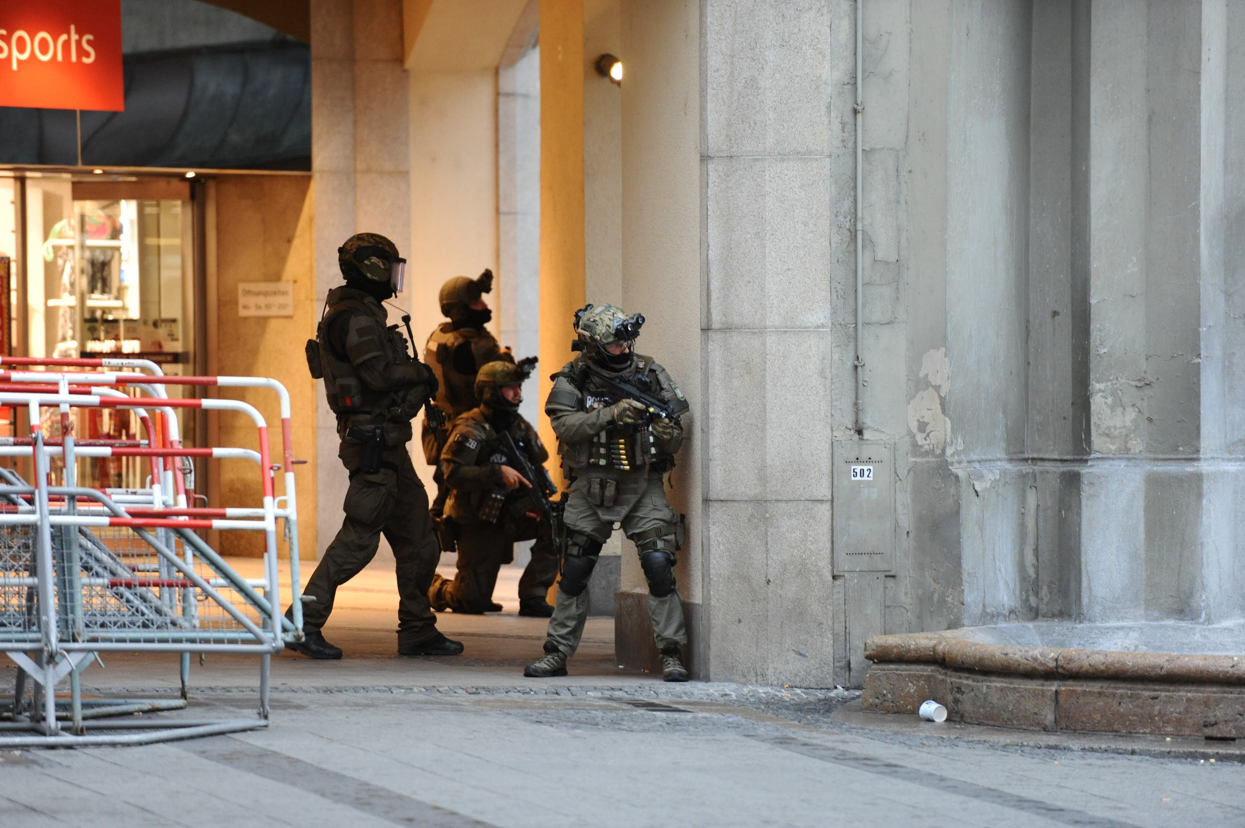 Police secures the area of a subway station Karlsplatz (Stachus) near a shopping mall following a shooting on July 22, 2016 in Munich. (AFP)