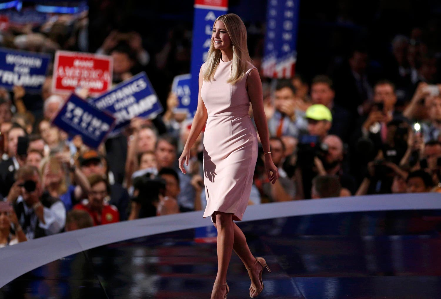 Ivanka Trump, daughter of Republican U.S. presidential nominee Donald Trump, speaks during the final session at the Republican National Convention in Cleveland, Ohio, U.S. July 21, 2016. REUTERS
