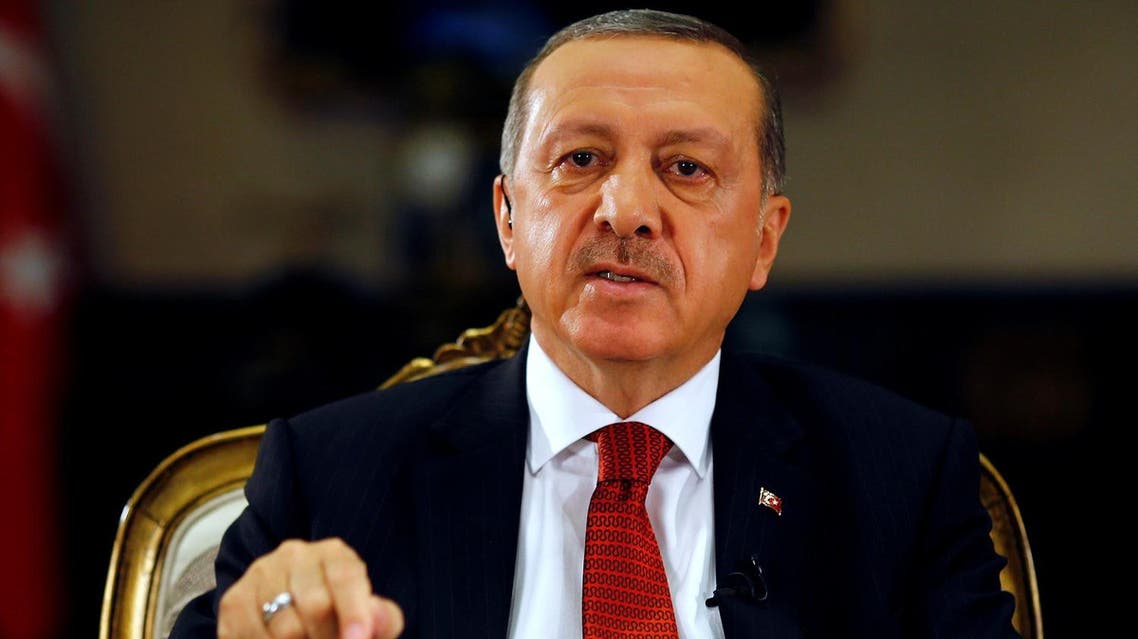 Turkish President Tayyip Erdogan attends an interview with Reuters at the Presidential Palace in Ankara, Turkey, July 21, 2016. (Reuters)