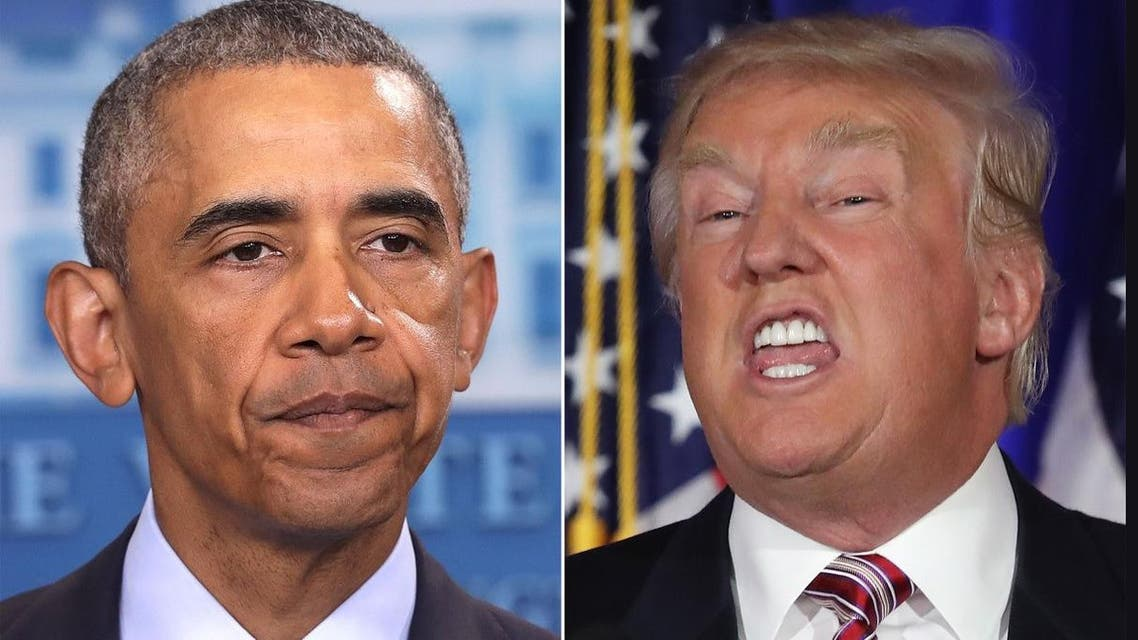 Obama (L) sought to undermine two pillars of Trump's speech in which he accepted the Republican presidential nomination. (File photos: Reuters/ AP)