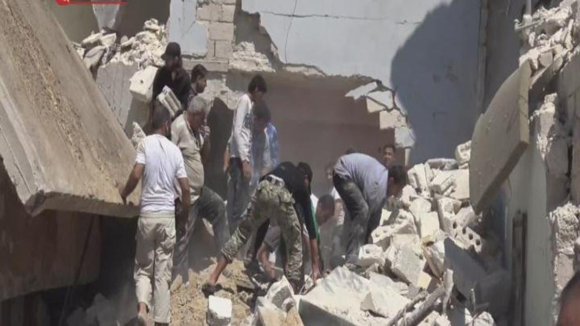 THUMBNAIL_ طائرات الاسد وروسيا تستهدف مشاف حلب