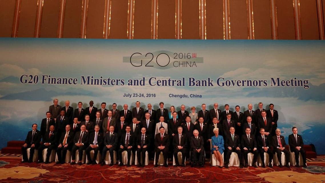 G20 Finance Ministers and Central Bank Governors pose for a group photo during a conference held in Chengdu in Southwestern China's Sichuan province. (Reuters)