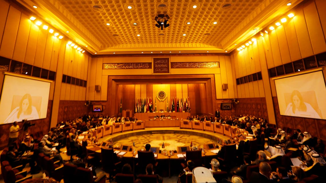 A general view shows an extraordinary session of the Arab League at the league's headquarters in Cairo July 14, 2014. (Reuters)