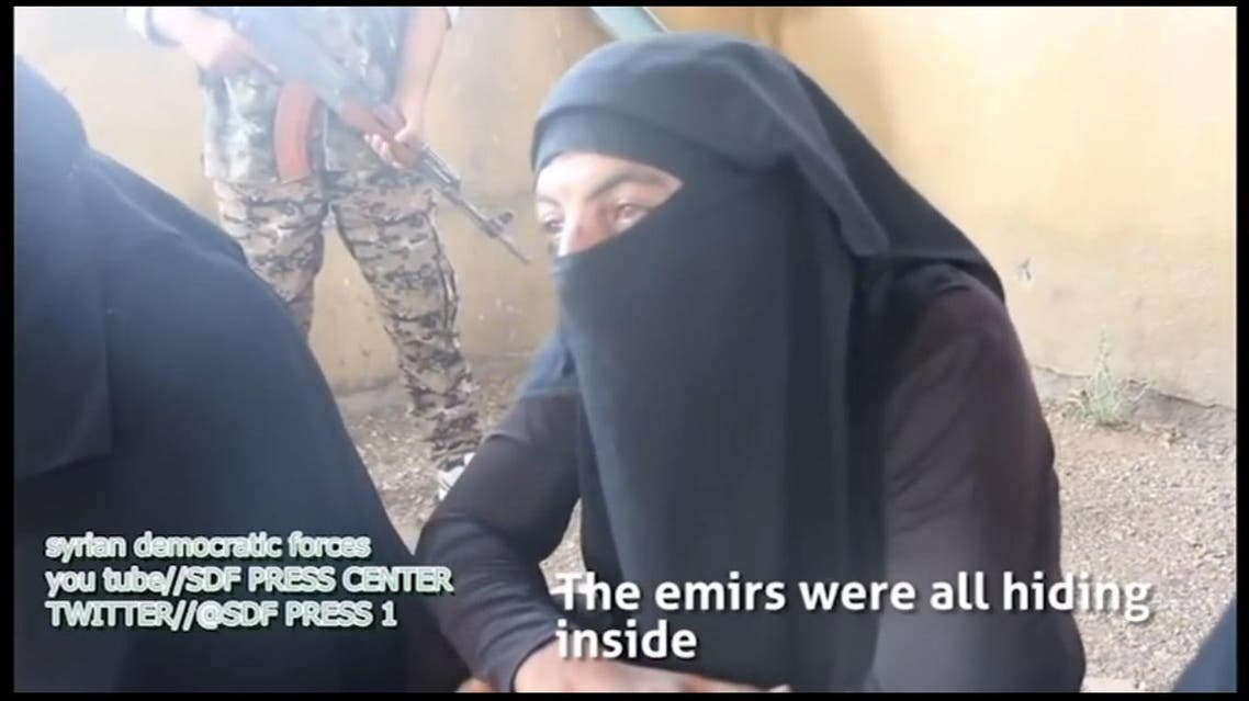 Footage published by Rudaw English showed a group of 10 ISIS men attempting to escape in disguise as regular Syrian women. (Photo courtesy: SDF Press Centre)