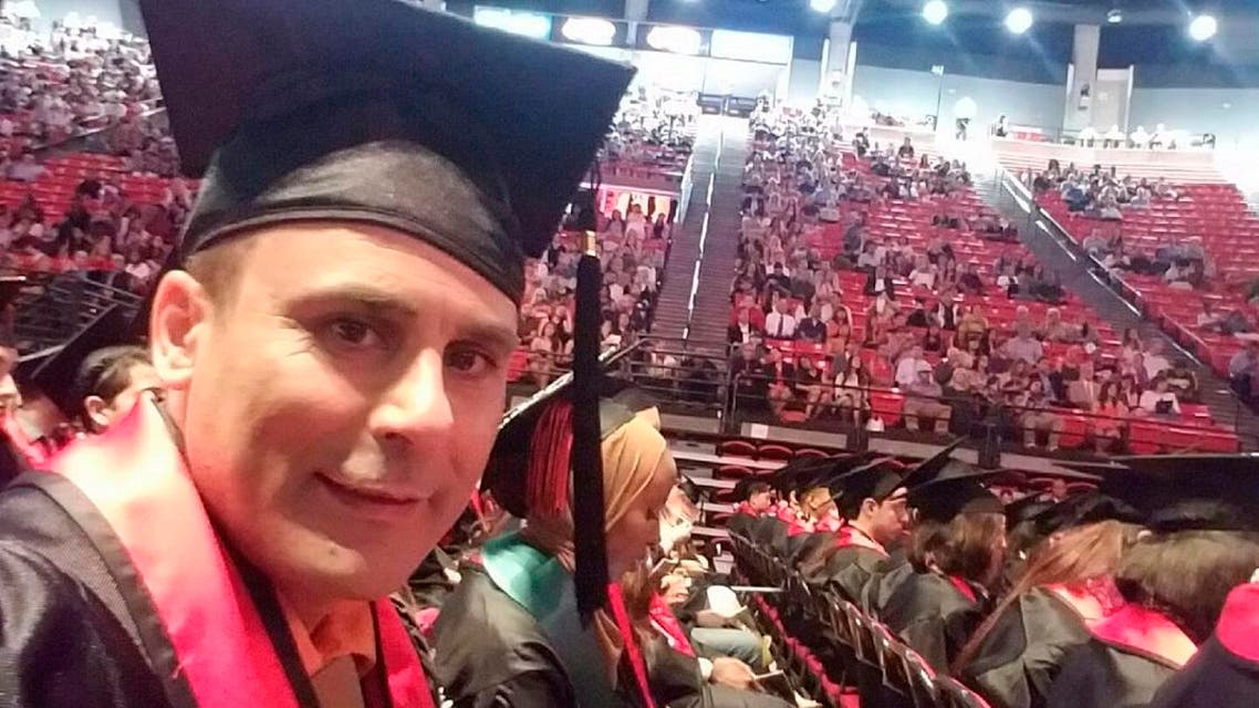 In this May 2016 photo released by a family member shows Robin Shahini during his International Security and Conflict Resolution San Diego State University graduation ceremony in San Diego, Calif. The U.S. State Department said Thursday, July 21, 2016, that it is looking into reports another American has been detained in Iran. State Department spokesman John Kirby would not comment further on the detention of Robin Shahini. The girlfriend of the San Diego man said Shahini's sister told her Iranian authorities took him into custody July 11 while he was visiting family in his native Iran and he has not been heard from since. (Shahini Family Photo via AP)
