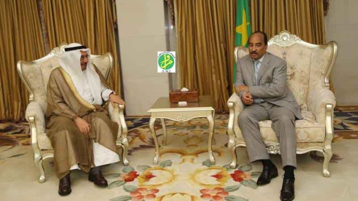 الرئيس الموريتاني، محمد ولد عبد العزيز مع الأمين العام لـ منظمة التعاون الإسلامي إياد مدني