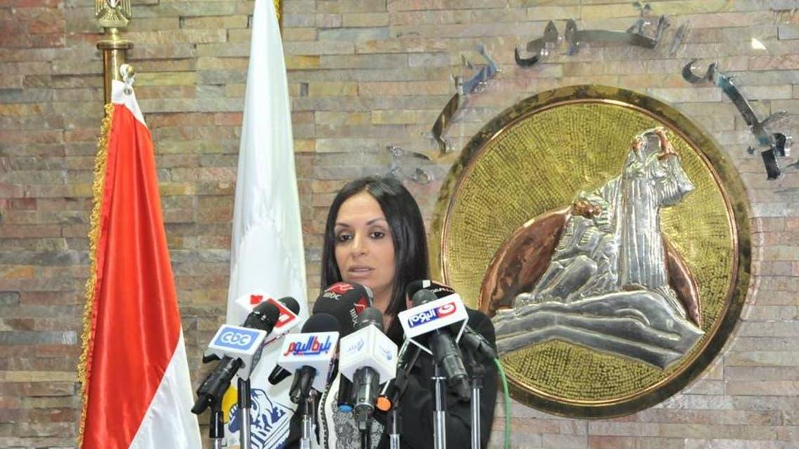 رئيسة المجلس القومي للمرأة أثناء عرض التقرير
