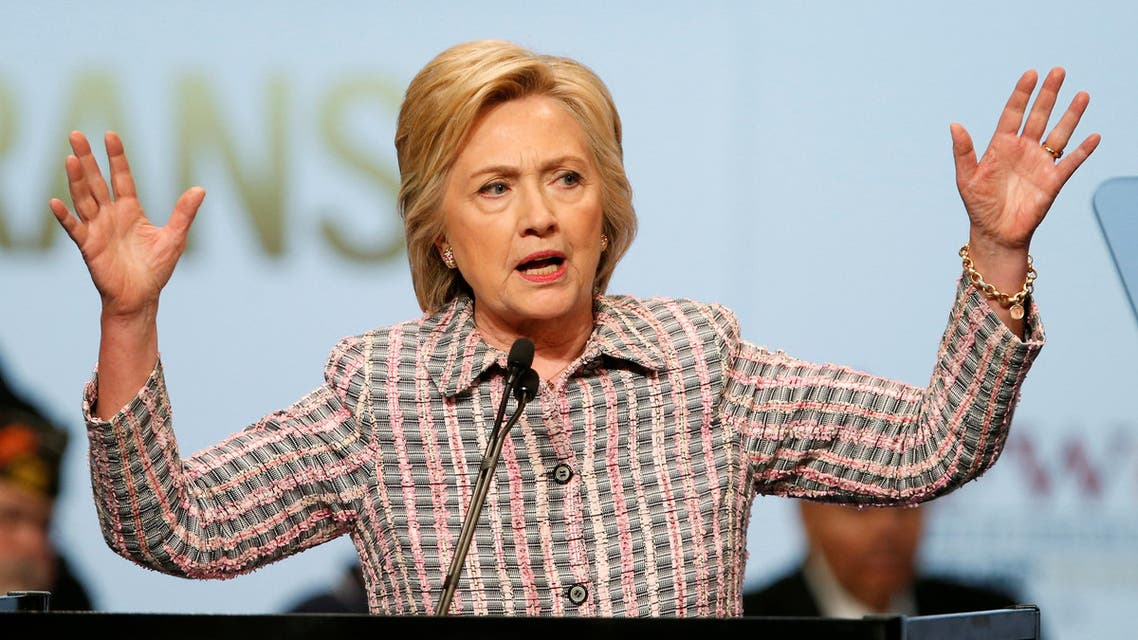U.S. Democratic presidential candidate Hillary Clinton gestures as she speaks at the Veterans of Foreign Wars Convention in Charlotte, North Carolina, U.S. July 25, 2016. REUTERS/Chris Keane