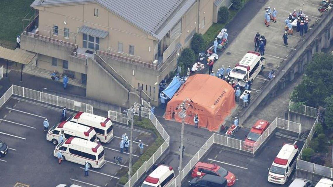 موقع الهجوم بالسكين في اليابان في مركز لرعاية المعاقين