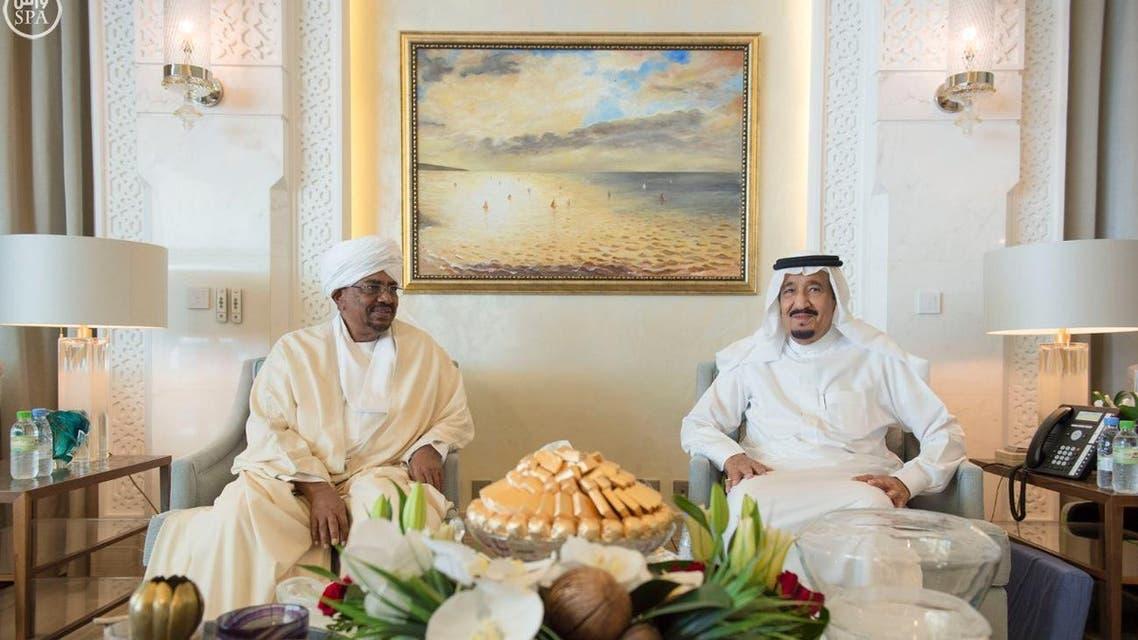 saudi king and sudan bashir SPA