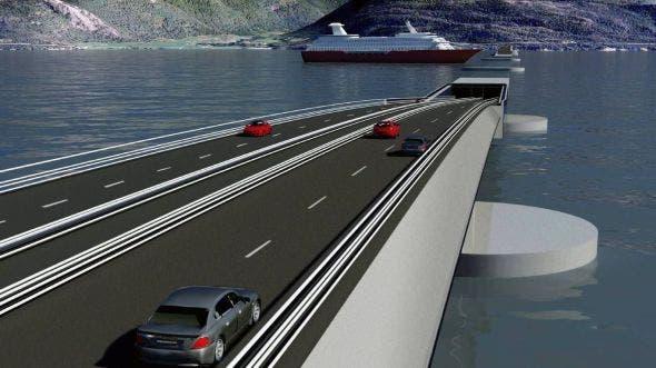 تونل شناور زیر آب در نروژ
