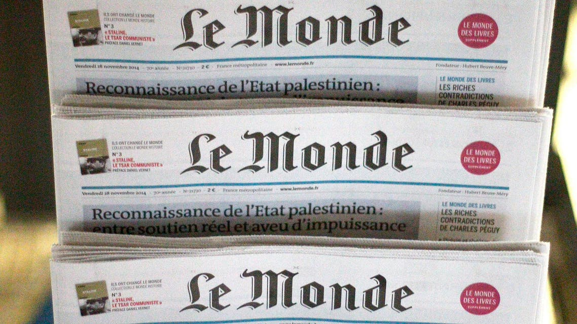The director of Le Monde called for news media to exercise more responsibility. (AFP)