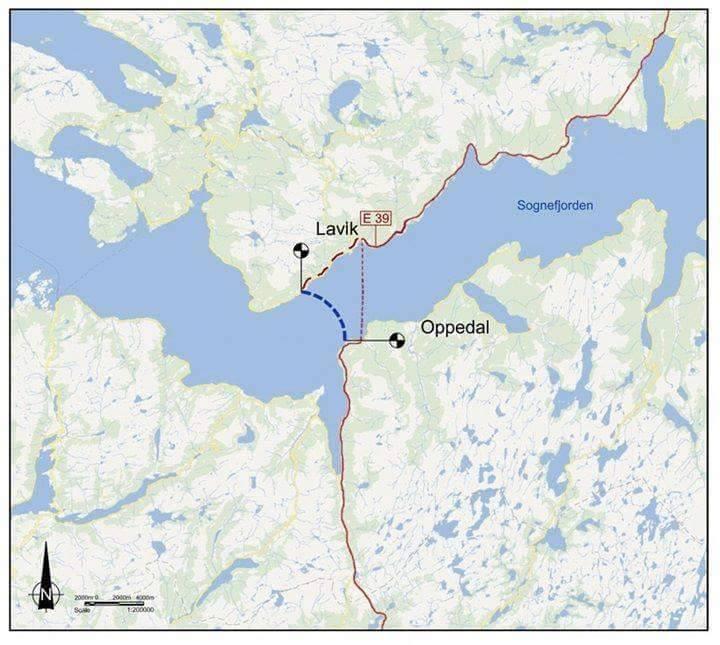 مسیر تونل شناور زیر آب در نروژ روی نقشه