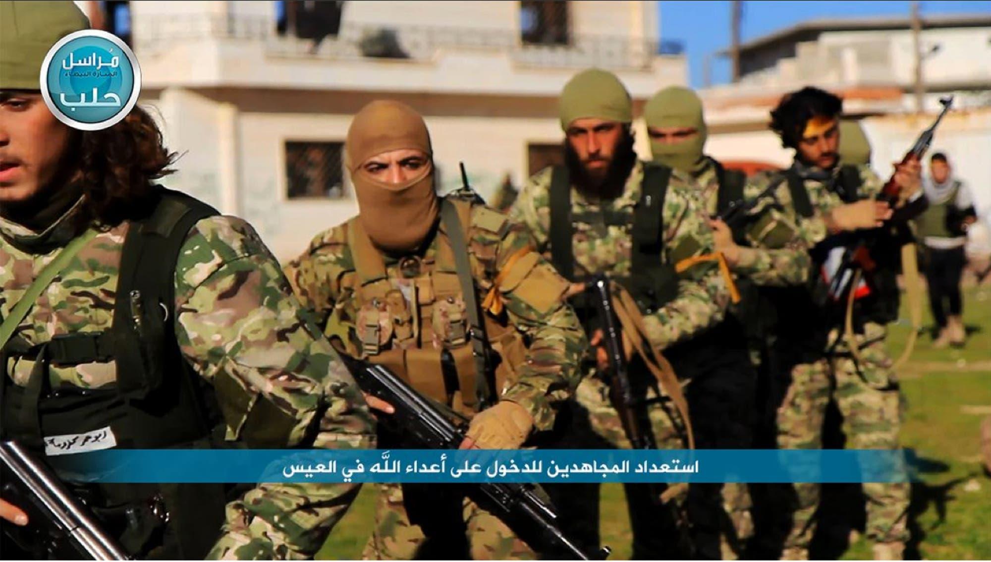 شام میں القاعدہ سے وابستہ گروپ النصرۃ محاذ کے جنگجوؤں کی یکم اپریل 2016ء کو ٹویٹر پر پوسٹ کی گئی تصویر ۔
