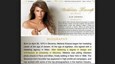 Melania Trump's site mysteriously deleted after degree controversy