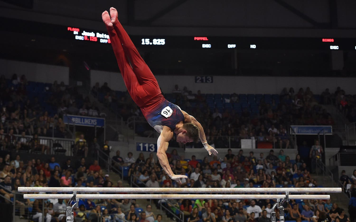 Jacob Dalton competes on the rings during the 2016 USA Gymnastics Olympic Team Trials at Chaifetz Arena,. Mandatory Credit: Jasen Vinlove-USA TODAY Sports