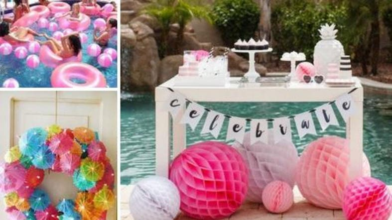 wedding planning bachelorette pool party ideas to have some summer