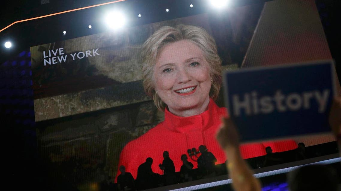 Democratic presidential nominee Hillary Clinton addresses the Democratic National Convention via a live video feed from New York during the second night at the Democratic National Convention in Philadelphia, Pennsylvania, U.S. July 26, 2016. REUTERS