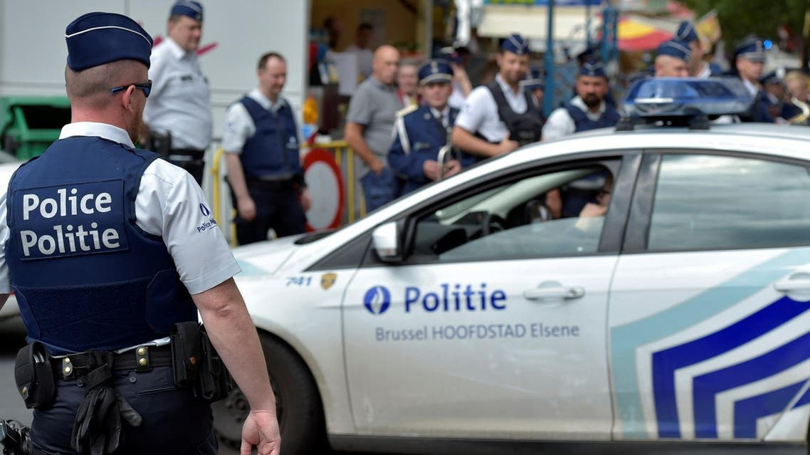 Belgian police officers patrol at the Midi Fair, one of the oldest summer events in Brussels, Belgium, July 16, 2016. REUTERS/Eric Vidal