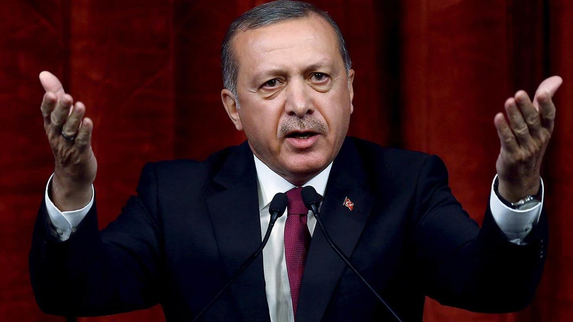 Turkey President Recep Tayyip Erdogan delivers a speech (Photo: AP)